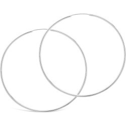 Sterling Forever Rhodium Plated Hoops