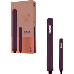 Hair Rage Beauty Duo 1-25in and 0.5in Travel Size Tourmaline Duet Flat Iron Set