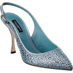 Dolce & Gabbana Crystal Embellished Satin Slingback Pump found on Bargain Bro India from Gilt City for $549.99