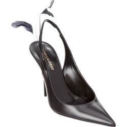 Saint Laurent Feather Slingback Leather Pump found on Bargain Bro India from Gilt for $499.99