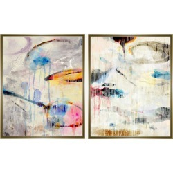 Jonathan Bass Studio Colorful Abstract Dyptych II found on Bargain Bro India from Ruelala for $509.99