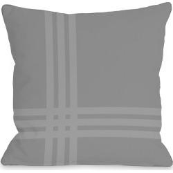 One Bella Casa Plaid Pop Outdoor Pillow