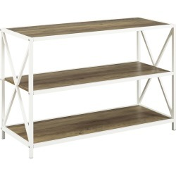 Hewson 40in Industrial Modern Bookcase Console Table