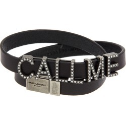 Saint Laurent Call Me Double Wrap Leather Bracelet found on Bargain Bro India from Gilt for $379.99