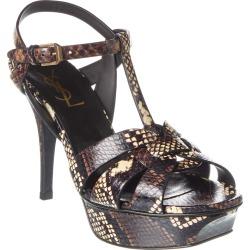 Saint Laurent Tribute 75 Snake-Embossed Leather Sandal found on Bargain Bro Philippines from Gilt for $699.99