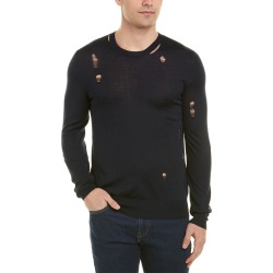 Alexander McQueen Distressed Crewneck Wool & Silk-Blend Sweater found on MODAPINS from Gilt for USD $349.99