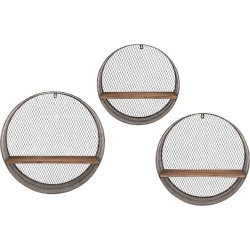 Imax Worldwide Home Set of 3 Laurel Round Wall Shelves