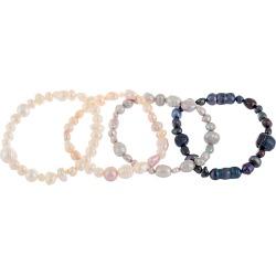 Splendid Pearls 6-8mm Freshwater Pearl Set of 4 Bracelets