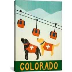 iCanvas Colorado Ski Patrol Canvas Art Print