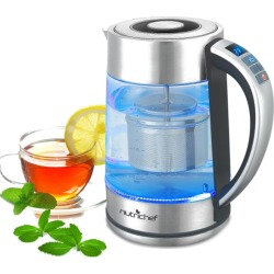NutriChef Digital Hot Water Glass Kettle