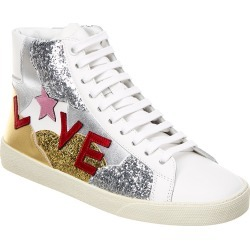 Saint Laurent Love Glitter Leather Sneaker found on Bargain Bro Philippines from Gilt for $399.99
