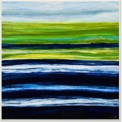 Acrylic Resin Hills And Plains Sunset Abstract by Barbara Bilotta found on Bargain Bro India from Ruelala for $29.99