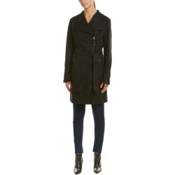 Mackage Leather-Lined Trench Coat