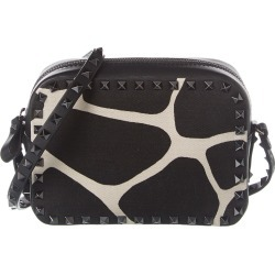 Valentino Rockstud Small Canvas Camera Bag found on Bargain Bro India from Gilt City for $1079.99