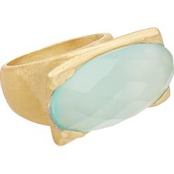 Rivka Friedman Fine Jewelry 18K Clad Chalcedony East/West Ring
