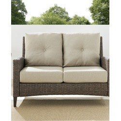 Rockport Outdoor Wicker High Back Loveseat found on Bargain Bro India from Gilt for $495.99