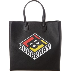 Burberry Large Logo Graphic Grainy Leather Tote found on Bargain Bro India from Gilt City for $999.99