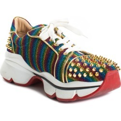 Christian Louboutin Leather Rainbow Stud Sneaker, Size 12 found on Bargain Bro Philippines from Gilt for $750.00