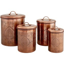 Old Dutch Tangier Antique Copper Etched Canisters found on Bargain Bro Philippines from Gilt City for $69.99