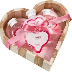 Freida & Joe Pink Rose Heart Shaped Bath And Body Gift Set