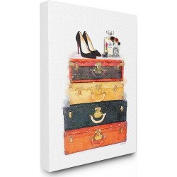 Stupell Luggage Stack Shoes And Makeup