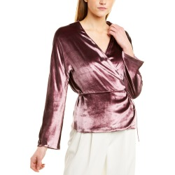 Vince Panne Wrap Silk-Blend Top found on Bargain Bro India from Gilt for $139.99