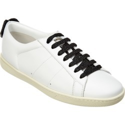 Saint Laurent Court Classic Glitter Lips Leather Sneaker found on Bargain Bro India from Gilt City for $395.99