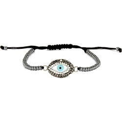 Eye Candy LA Iris Evil Eye Shell Stone And Hematite Beaded