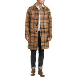 Burberry Vintage Check Alpaca & Wool-Blend Car Coat found on Bargain Bro Philippines from Gilt City for $1799.99