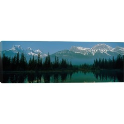 iCanvas Three Sisters and Mount Lawrence Grassi, Canadian Rockies, Alberta, Canada by Panoramic Images Wall Art found on Bargain Bro Philippines from Gilt for $109.99