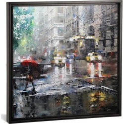 iCanvas Manhattan Red Umbrella by Mark Lague found on Bargain Bro India from Gilt for $119.99