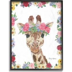 Stupell Flower Friends Giraffe by Emily Adams Framed Art found on Bargain Bro Philippines from Ruelala for $29.99