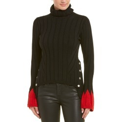 Alexander McQueen Contrast Wool-Blend Turtleneck Sweater found on MODAPINS from Ruelala for USD $799.99
