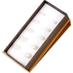 Splendid Pearls Silver 5-9mm Freshwater Pearl Set of 5 Studs found on Bargain Bro India from Gilt City for $39.99