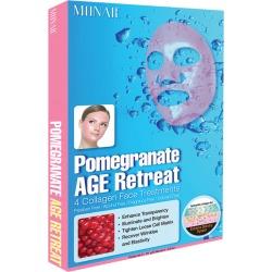 Monar Women's Set of 4 Pomegranate Collagen Age Retreat Face Masks