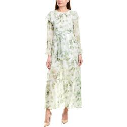 BURRYCO Silk-Blend Maxi Dress