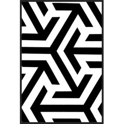Monochrome Patterns 8, Decorative Framed Hand Embellished Canvas found on Bargain Bro India from Gilt City for $969.99
