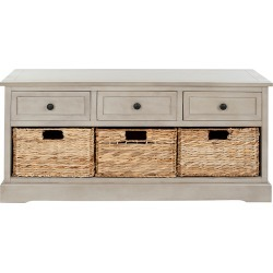 Safavieh Damien 3 Drawer Storage Bench found on Bargain Bro India from Gilt for $229.99