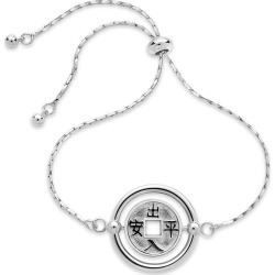 Sterling Forever Rhodium Plated Eastern Bolo Bracelet found on Bargain Bro from Gilt City for USD $19.75