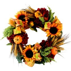 Creative Displays 23in Sunflower & Gourds Wreath found on Bargain Bro India from Ruelala for $119.99