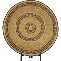 20in Mosaic Platter with Easel
