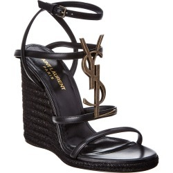 Saint Laurent Cassandra 110 Leather Wedge Sandal found on Bargain Bro India from Gilt City for $599.99
