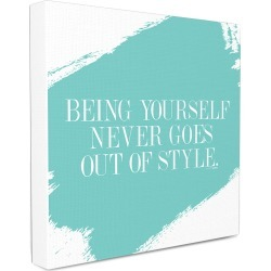 Stupell Being Yourself Never Goes Out of Style Canvas Wall Art by lulusimonSTUDIO found on Bargain Bro Philippines from Gilt for $29.99