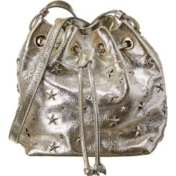 Jimmy Choo Juno Glitter Leather Bucket Bag found on MODAPINS from Gilt City for USD $1079.99