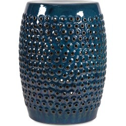 Imax Worldwide Home Indigo Cutout Garden Stool