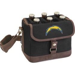 Legacy Beer Caddy' Cooler Tote with Opener with Los Angeles Chargers Digital Print