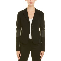 Akris Wool-Blend Leather-Trim Jacket found on MODAPINS from Ruelala for USD $599.99