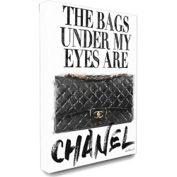 Stupell Glam Bags Under My Eyes Black Bag Canvas Art found on Bargain Bro India from Gilt for $69.99