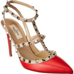 Valentino Rockstud Caged 100 Leather Ankle Strap Pump found on Bargain Bro Philippines from Ruelala for $479.99