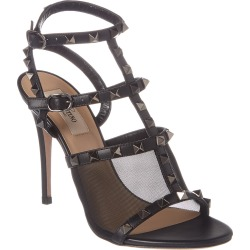 Valentino Rockstud Caged 105 Leather & Mesh Ankle Strap Pump found on Bargain Bro India from Gilt City for $639.99